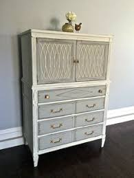 shabby chic taupe ivory u0026 gold leaf dresser custom order for