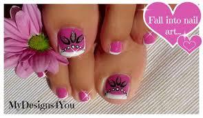 toenail art design pink and silver beads pedicure diseño de