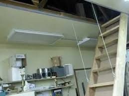 Retractable Stairs Design Auto Stairs Retractable Attic Loft Stairs In Garage Shop Diy