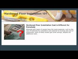 hardwood floor installation cost is different for everybody youtube
