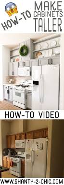how to cabinets how to make cabinets taller above kitchen cabinets new
