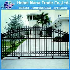 sliding wrought iron big gates beautiful design decorative gate