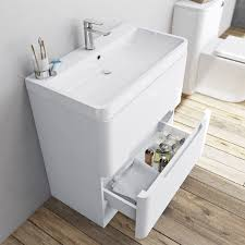 mode ellis white vanity drawer unit and basin 800mm victoriaplum com