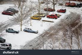 cars parked parking winter snow stock photo 28097677