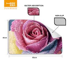 aliexpress com buy new art design entrance carpets funny floral