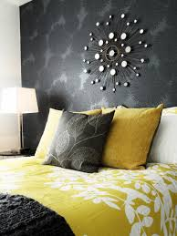 yellow and gray bedroom home design ideas and architecture with