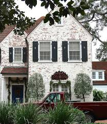 charming holiday exteriors rustic white bricks and holiday