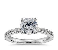 preset engagement rings 1 carat preset pavé engagement ring in 14k white