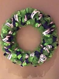 seahawk ribbon seattle seahawks burlap sports wreath seahawks seattle and burlap