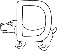 letter d is for dog coloring pages download education letter d