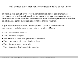 Resume For Call Center Sample by Customer Service Representative Call Center Cover Letter Sample