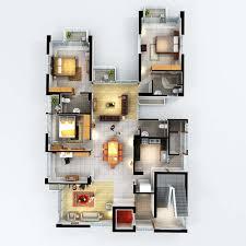 top view floor plan banani freedom luxury apartments