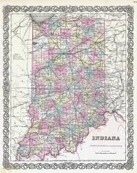 Indiana State Map Large Detailed Old Administrative Map Of Indiana State U2013 1855
