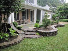 Landscape Design Backyard by Landscaping Around Deck Stairs Home Design Ideas Garden