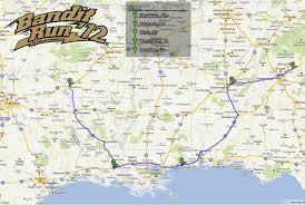 Map Run Route by The Bandit Run 2012 Information