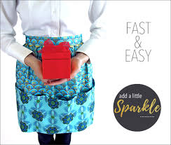 festive half apron with extra large pockets sew4home sewing
