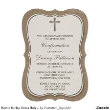 Holy Communion Invitation Cards Samples Rustic First Communion Invitation First Communion Invite Boy