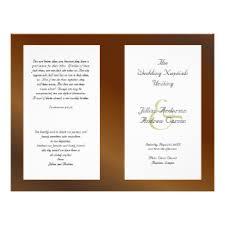 Wedding Ceremony Pamphlets Wedding Programs Flyers Zazzle Com Au