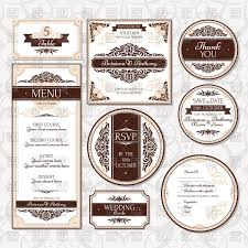 Card Invitations Ornate Wedding Cards Invitations And Labels In Vintage Style With