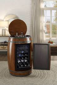Dark Oak Furniture Homelegance Dark Oak Cabernet Wine Barrel Refrigerator 4520