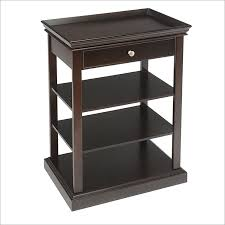 end table with shelves amazing espresso accent table casual home crisscross accent table