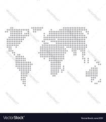 Simple Vector World Map by World Map Basic Dots Royalty Free Vector Image