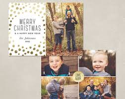 christmas card template gold happy holidays horizontal
