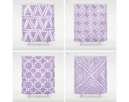 lilac shower curtain etsy