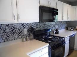 glass mosaic tile black and white kitchen backsplash marissa kay