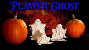 diy halloween plaster ghost decorations fast easy cheap 2014