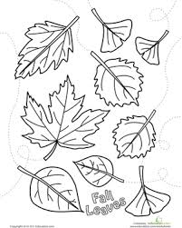 autumn leaves coloring page fall preschool worksheets and autumn