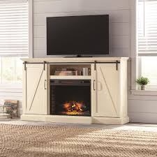 home decorators collection furniture decor the home depot chestnut hill 68 in tv stand electric fireplace with sliding barn door in white