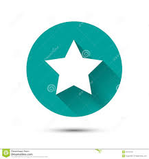 Blue Flag White Star White Star Icon On Green Background With Shadow Stock Vector