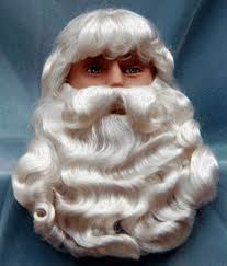 santa beard n folly christmas santa wig beard sets