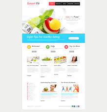 healthy eating planner template website template 46204 smart fit weight custom website template website design template 46204 online diet site invalid food recipe service planning product consulting health