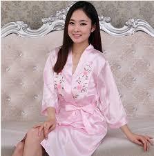 wedding sleepwear pyjamas women s robe nightgown sets sleepwear faux silk 2pcs