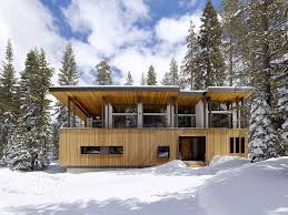 shed roof homes modern mountain home uses railroad avalanche shed design as muse