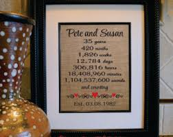 35th wedding anniversary gift wedding and special occasion gifts by flirtygirlweddings on etsy