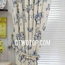 Blue Floral Curtains And Blue Flowers Floral Elgant Simple Inexpensive Curtains