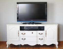 gray furniture paint refinished media console with chalk paint love grows wild