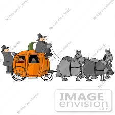 Pumpkin Carriage Children Riding In A Halloween Pumpkin Carriage Clipart 13273