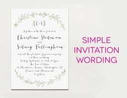 create easy wedding invitation wording ideas invitations templates