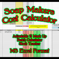 Cost Of Living Spreadsheet Soap Makers Cost Spreadsheet Ms Excel Soaping Calculator