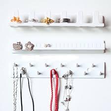 bracelet necklace organizer images 3 white plastic wall mounted ring bracelet necklace hanger jpg