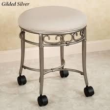 bathroom bathroom vanity stools with wheels on bathroom stools