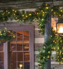plow hearth lighted outdoor battery operated garland