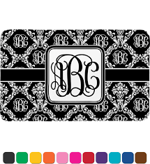 Damask Bath Rug Monogrammed Damask Bath Mat Personalized Potty Concepts