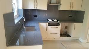 Kitchen Interior Fittings Dark Grey Mirror Fleck Quartz Worktop Sample Sparkle Quartz In
