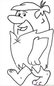 draw barney rubble step 4 coloring free flintstones