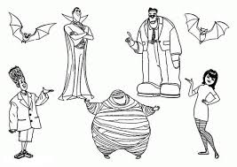 famous characters hotel transylvania coloring pages